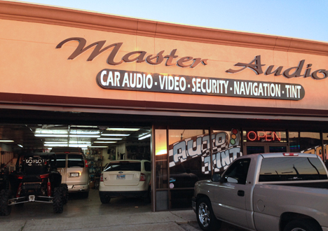 Master Audio and Security Storefront at 5106 Hwy 6N, Houston, TX 77084